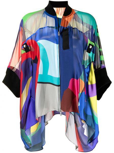 Синий пиджак из полиэстера Sacai