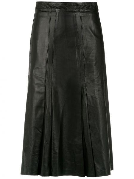 Плиссированная юбка кожаная пачка Clé