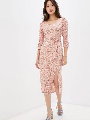 Розовое платье осеннее Masha Mart