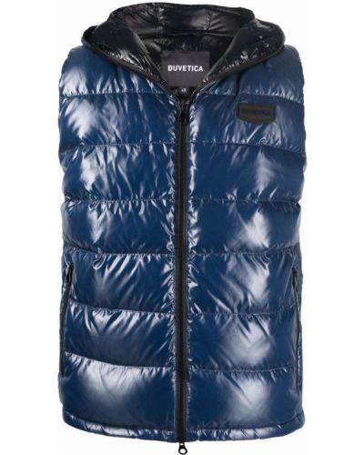Синяя жилетка с карманами Duvetica