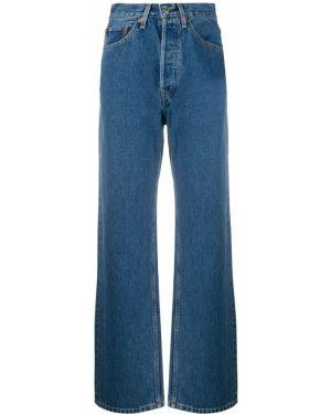 Хлопковые синие широкие джинсы с поясом свободного кроя Re/done