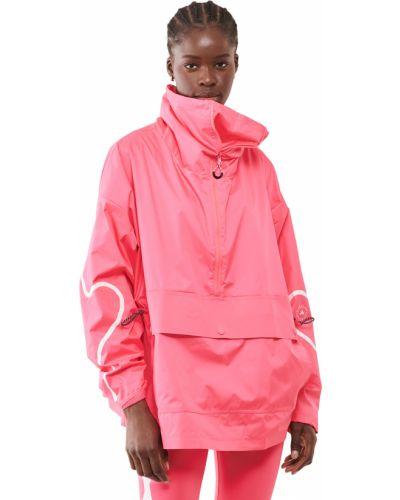 Розовая куртка с воротником с карманами Adidas By Stella Mccartney