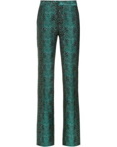 Свободные брюки зеленый расклешенные Tufi Duek