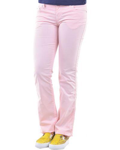Хлопковые брюки - розовые Moschino Jeans
