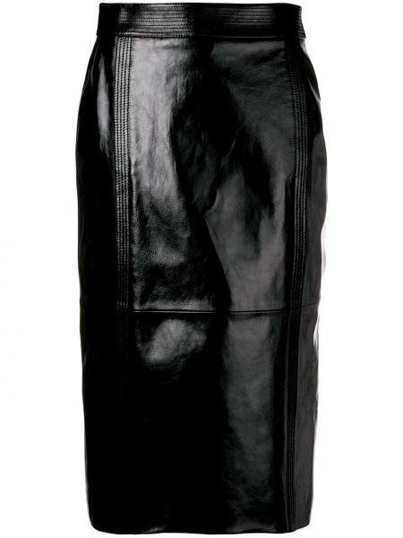 Юбка миди с завышенной талией черная Givenchy