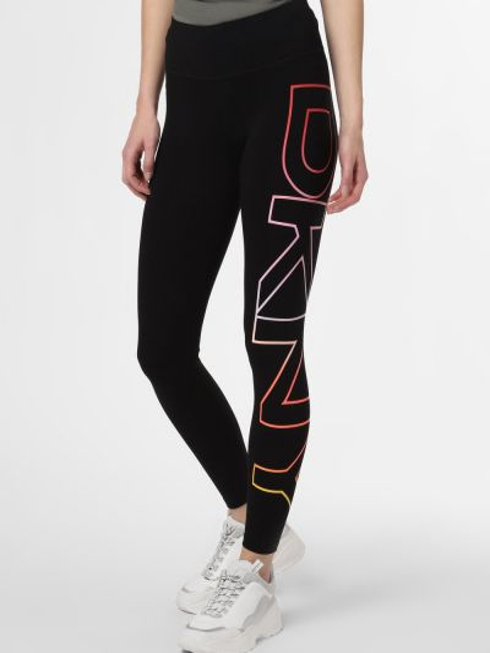 Czarne legginsy oversize Dkny