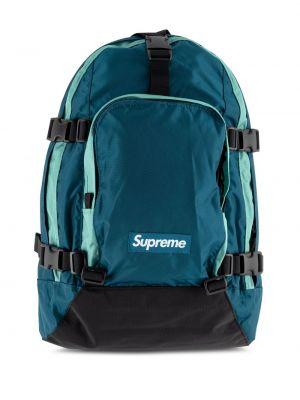 Niebieski plecak miejski z nylonu Supreme