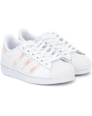 Кожаные белые кроссовки Adidas Originals Kids