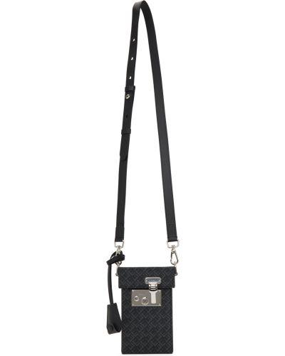 Czarna torba na ramię skórzana Dunhill