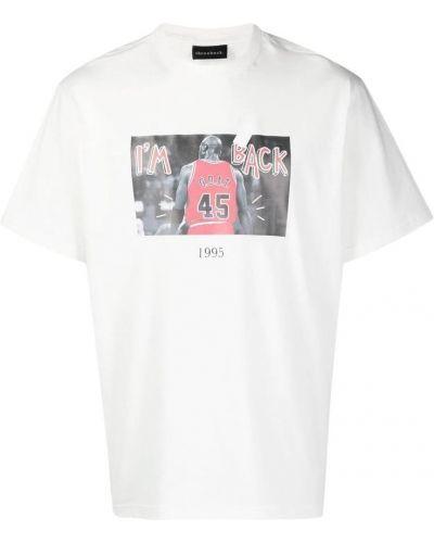Biała t-shirt Throwback