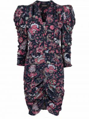 Платье с V-образным вырезом - синее Isabel Marant