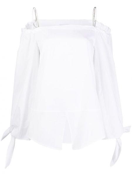 Топ белый с открытыми плечами Dondup