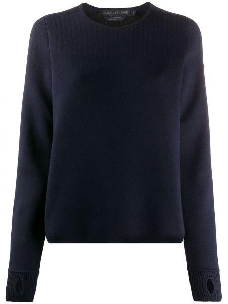 Длинный свитер круглый с вырезом в рубчик Canada Goose