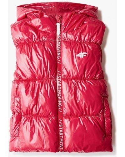 Теплый розовый жилет 4f