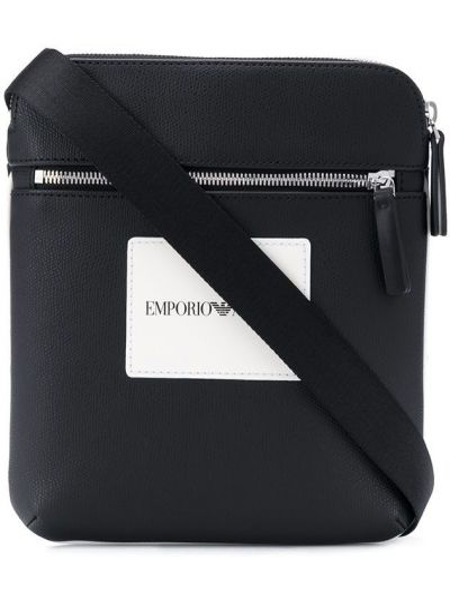 Skórzany torba z kieszeniami Emporio Armani