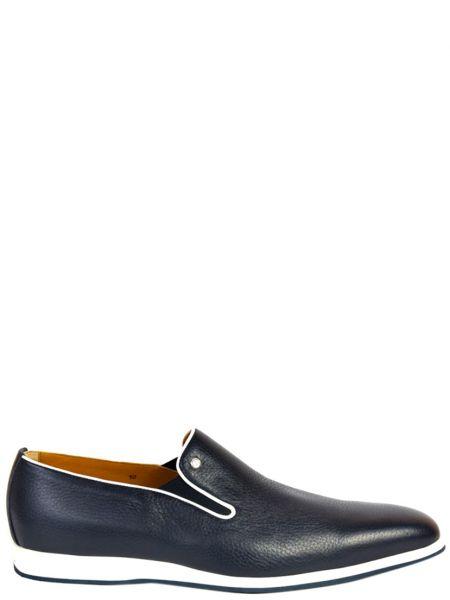 Кожаные туфли - синие Zilli