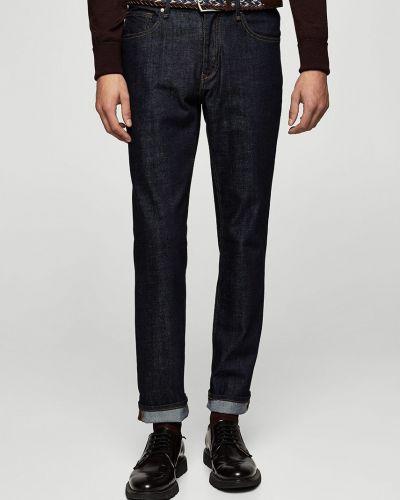 Бирюзовые джинсы-скинни Mango Man
