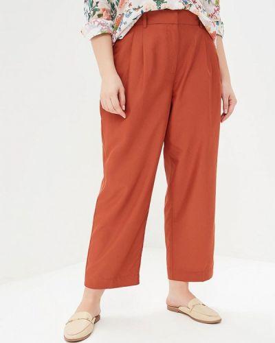 Коричневые брюки прямые Violeta By Mango