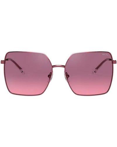 Czerwone okulary Ralph Lauren