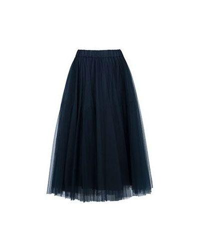 Синяя юбка миди P.a.r.o.s.h.