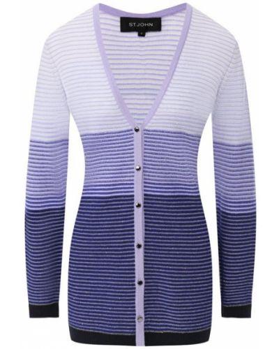 Кардиган фиолетовый джинсовый St. John