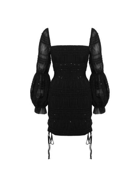 Платье мини с пайетками макси Self-portrait