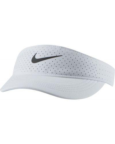 Теннисный белый козырек Nike