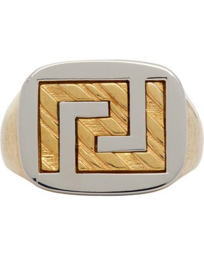 Srebro pierścień Versace