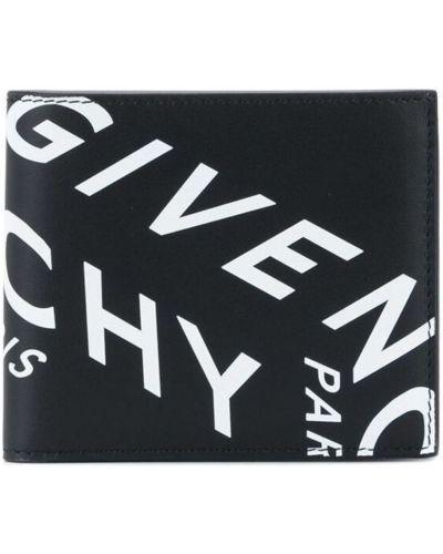 Klasyczny czarny portfel skórzany Givenchy