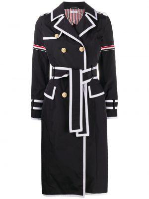 Biały długi płaszcz z długimi rękawami Thom Browne