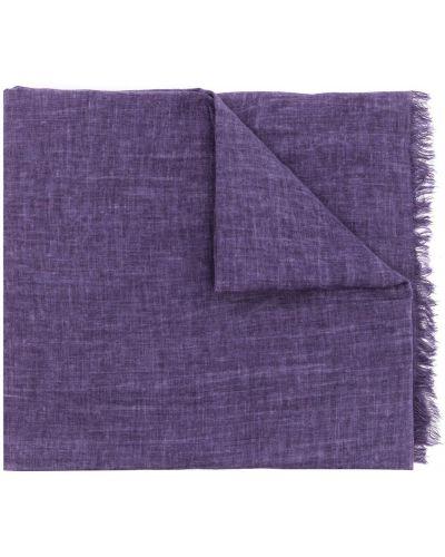 Fioletowy szalik bawełniany Polo Ralph Lauren