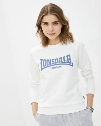 Белая толстовка Lonsdale