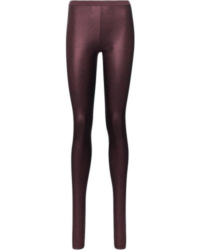 Fioletowe legginsy z nylonu Rick Owens