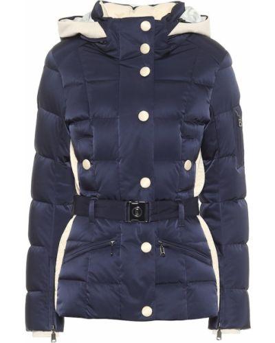 Пуховая синяя стеганая куртка Bogner