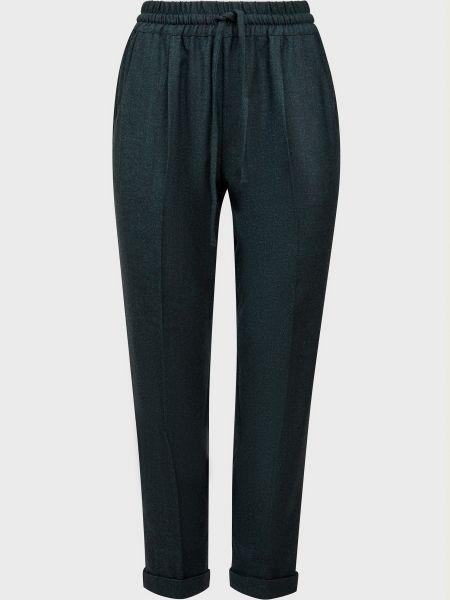 Зеленые шерстяные брюки Kiton