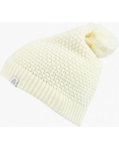Белая шапка осенняя Reebok