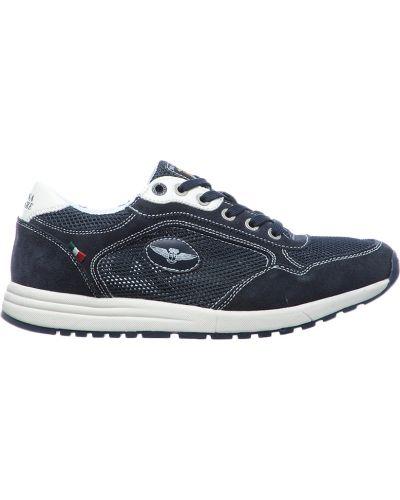 Кожаные кроссовки - синие Marina Militare