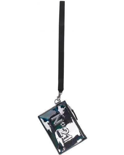Черный кошелек на молнии металлический Nº21 Kids