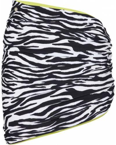 Czarna spódnica na plażę z printem The Attico