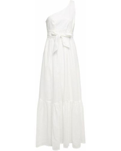 Льняное платье макси - белое Zimmermann
