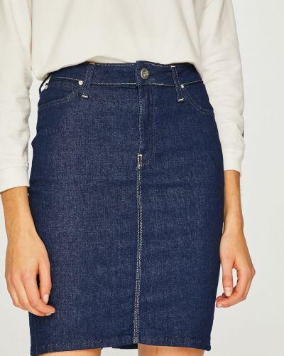 Юбка мини джинсовая на пуговицах Lee