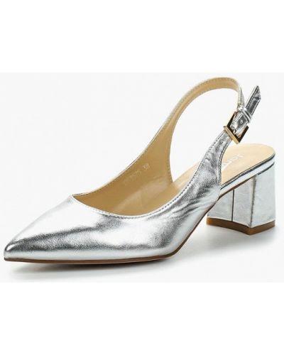 Туфли-лодочки кожаные на каблуке Janessa