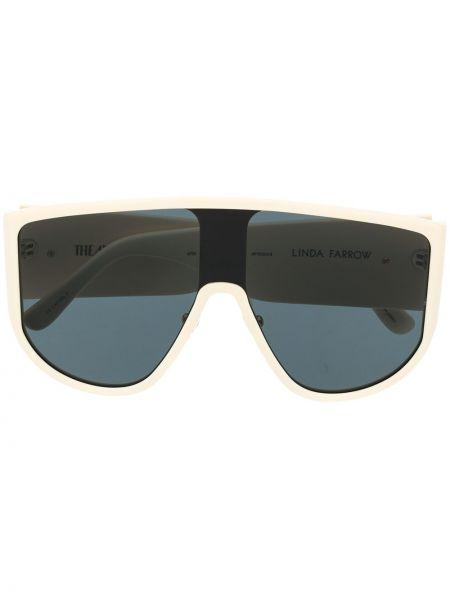Beżowe złote okulary oversize Attico