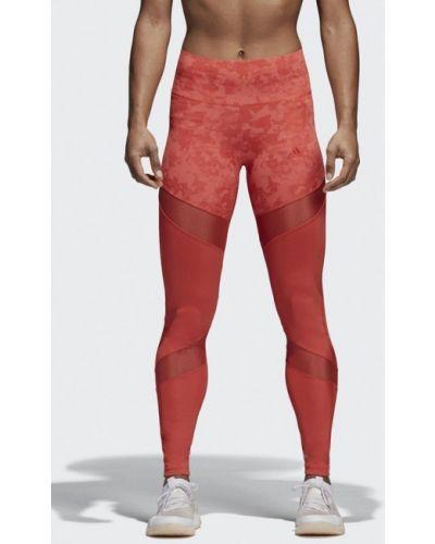 Красные леггинсы Adidas