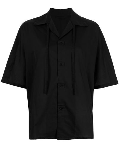 Czarna koszula krótki rękaw Ys
