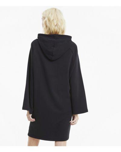 Свободное черное платье свободного кроя Puma