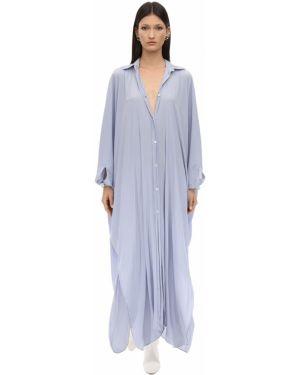 Платье на пуговицах оверсайз Lanvin
