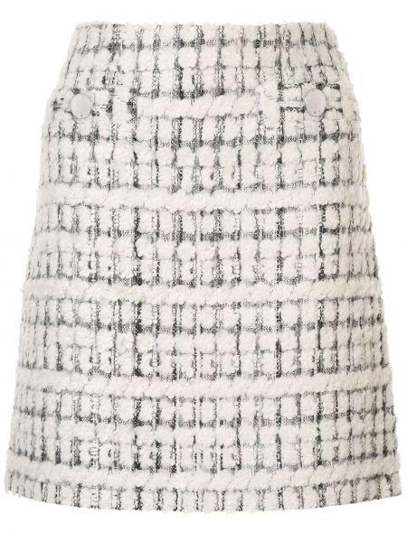 Spódnica mini trykotowy z guzikami Paule Ka