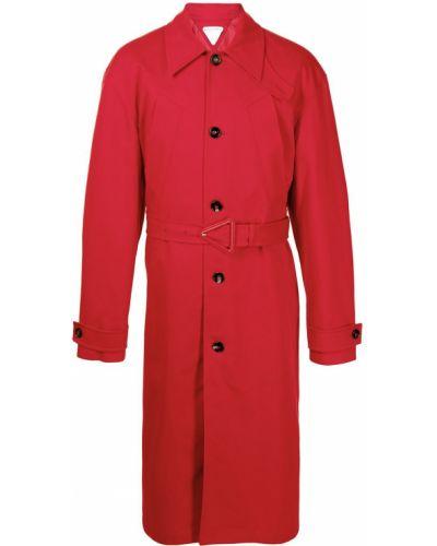 Klasyczny długi płaszcz bawełniany z długimi rękawami Bottega Veneta
