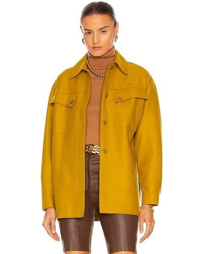 Куртка на пуговицах - желтая Alberta Ferretti